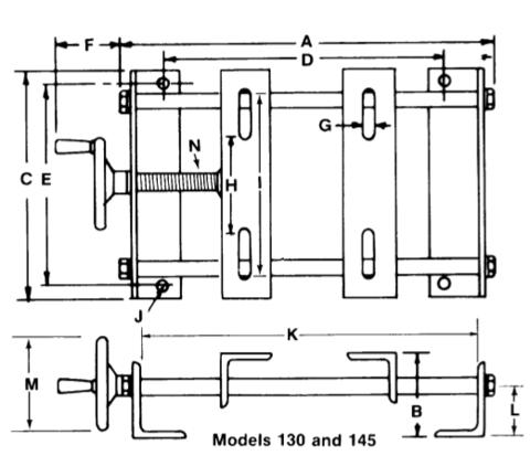 Hi-Lo Adjustable Motor Bases Models 130 and 145